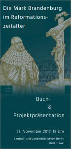 """Cover des Flyers """"Die Mark Brandenburg im Reformationszeitalter"""""""