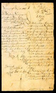 Vorderseite des handschriftlichen Dokuments zur Errichtung der Berliner Sparkasse
