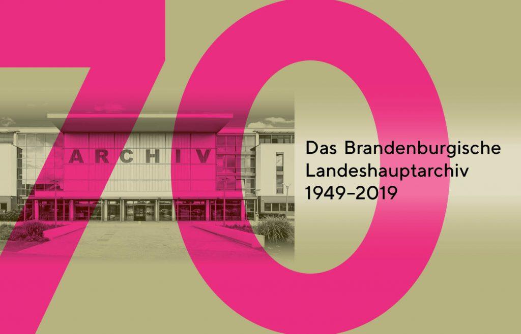 Einladungskarte zum Tag der offenen Tür des Brandenburgischen Landeshauptarchivs am 8. September 2019