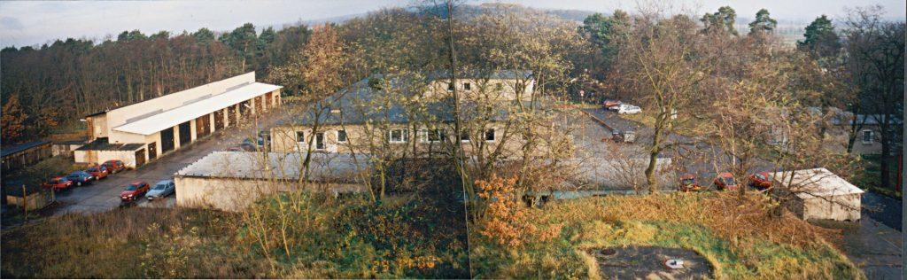 Ein Panoramabild der Verwaltungsstelle in Potsdam-Bornim