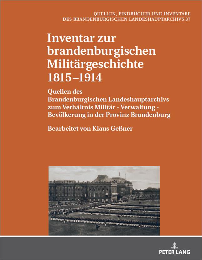"""Buchcover """"Inventar zur brandenburgischen Militärgeschichte 1815-1914"""""""