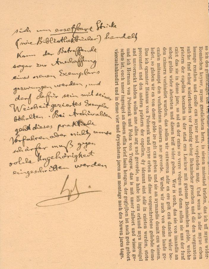 Auszug von Notizen von Dr. Woldemar Lippert