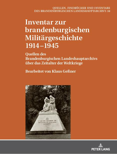 """Buchcover """"Inventar zu brandenburgischen Militärgeschichte"""", Bd. 3"""