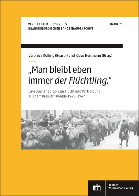 """Buchcover """"Man bleibt eben immer der Flüchtling"""""""